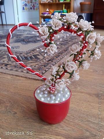 Свадебное сердце из бисера - Делаем фенечки своими руками