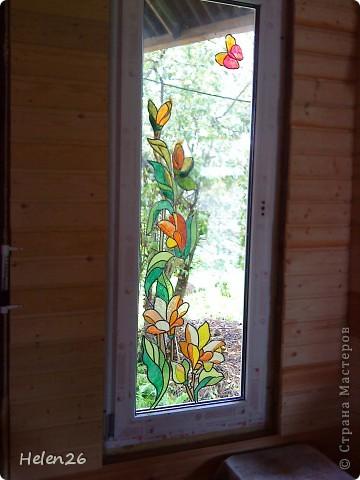 Витраж на окне своими руками