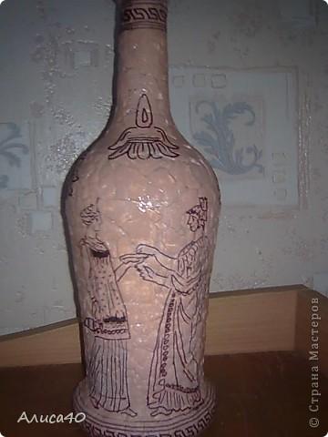 Декор предметов Декупаж Роспись Греческие сцены Бутылки стеклянные Скорлупа яичная фото 3