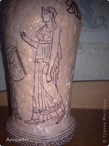 Декор предметов Декупаж Роспись Греческие сцены Бутылки стеклянные Скорлупа яичная фото 5