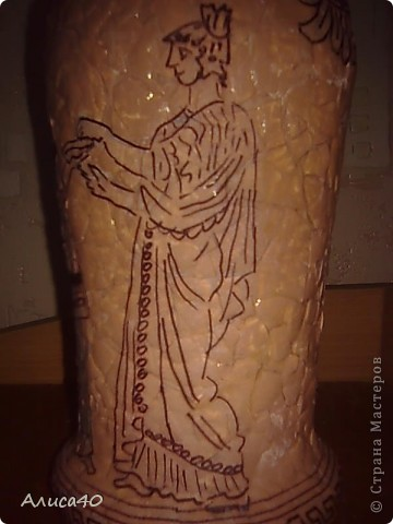 Декор предметов Декупаж Роспись Греческие сцены Бутылки стеклянные Скорлупа яичная фото 7