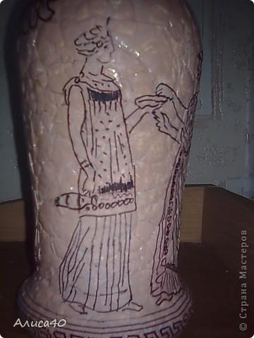 Декор предметов Декупаж Роспись Греческие сцены Бутылки стеклянные Скорлупа яичная фото 8