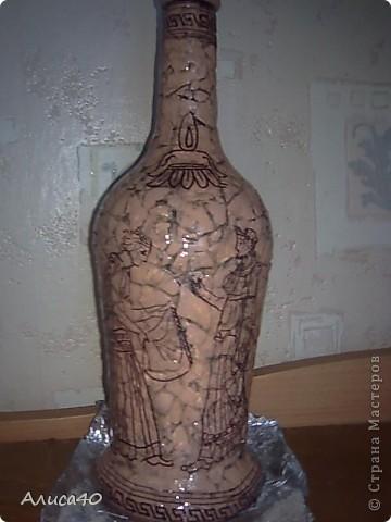 Декор предметов Декупаж Роспись Греческие сцены Бутылки стеклянные Скорлупа яичная фото 10