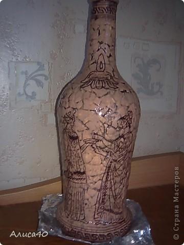 Декор предметов Декупаж Роспись Греческие сцены Бутылки стеклянные Скорлупа яичная фото 1