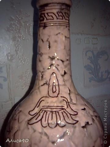 Декор предметов Декупаж Роспись Греческие сцены Бутылки стеклянные Скорлупа яичная фото 9