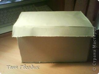 Привет! Ето мой первый масстер клас . Както мне нечего было делать и я затеяла сделать коробку под всякую разность! Нам понадобиться: клей  , 3 кисточьки , ножницы ,карандаш, краски ,коробочный картон. фото 3