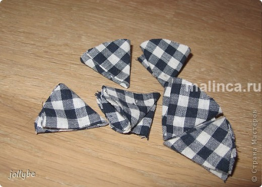 Цветок из ткани для броши, ободка и тд. фото 6