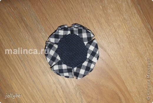 Цветок из ткани для броши, ободка и тд. фото 8
