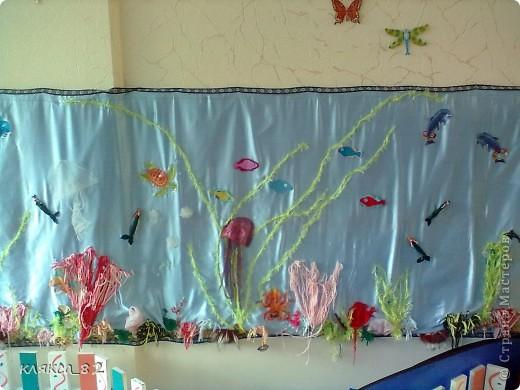 вот такой получился аквариум из различного материала в группу моей дочечки, р-р 100х200 см фото 1