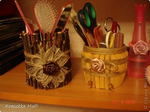 карандашница и стаканчик для дочиных расчесок)) фото 1