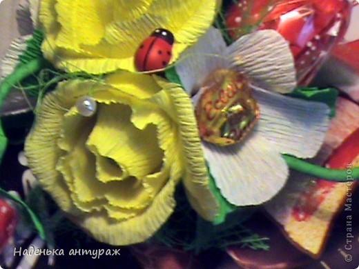 """Здраствуйте, соседи! Хочу вам показать мои последние конфетные украшалочки. Это коробочка в нежных тонах - """"Признание в любви"""" фото 4"""