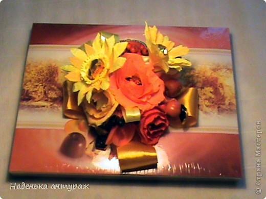 """Здраствуйте, соседи! Хочу вам показать мои последние конфетные украшалочки. Это коробочка в нежных тонах - """"Признание в любви"""" фото 6"""