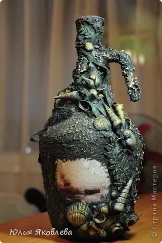 Полторалитровая бутыль из-под вина, удобный такой графинчик))) Фото не передает всей красоты бутыли(((  фото 12