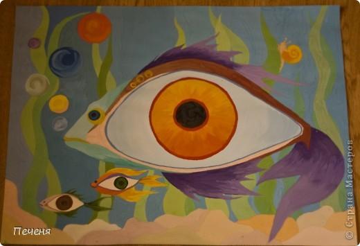 рыбки,  А3 формат  фото 1