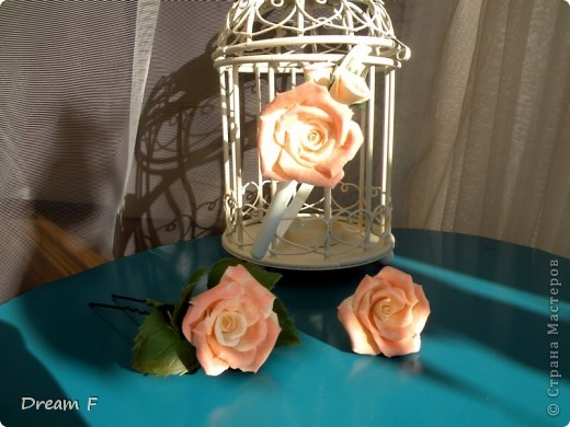 комлект из персиковых роз фото 3
