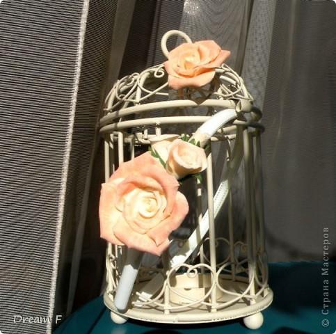 комлект из персиковых роз фото 1