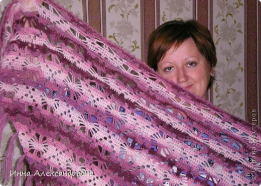 Вот,связалась шаль в подарок одной очень хорошей знакомой. фото 2