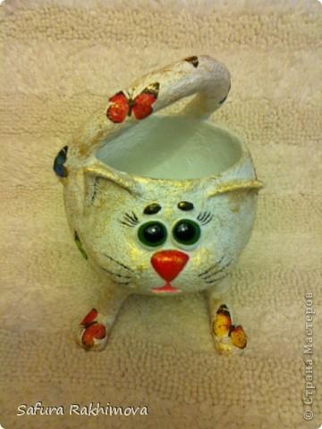 Здравствуйте, вот снова кот. Очень понравились идеи meribesi https://stranamasterov.ru/user/115257 и мастер-класс Светланы Шишикиной https://stranamasterov.ru/user/37316  .  Они меня и вдохновили на создание этого кота. За что огромное спасибо замечательным мастерицам ! фото 4