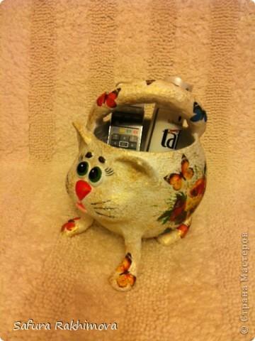 Здравствуйте, вот снова кот. Очень понравились идеи meribesi https://stranamasterov.ru/user/115257 и мастер-класс Светланы Шишикиной https://stranamasterov.ru/user/37316  .  Они меня и вдохновили на создание этого кота. За что огромное спасибо замечательным мастерицам ! фото 1