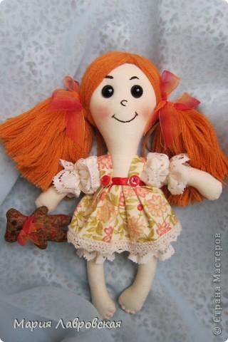 Захотелось  мне как-то сшить  двух  маленьких куколок.  Ростом девчушки  получились15 см. фото 2