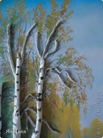 Картина панно рисунок День учителя Праздник осени Аппликация Осколки осени Бисер Клей Салфетки фото 4.