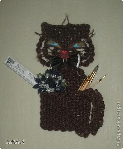 """Макраме карман """"Кот"""". Надеюсь он вам понравиться и пригодиться в вашей практике."""