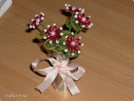 Целая клумба маленьких подарочных букетиков фото 2