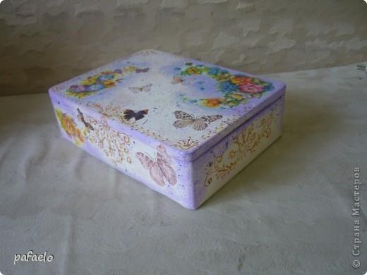 ...вот опять любимый муж сделал мне деревянный коробочек.который превратился в такую шкатулочку))) фото 2