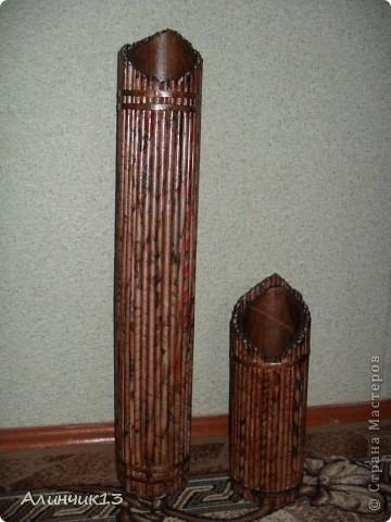Эти вазочки сделала,спасибо этому автору за идею- https://stranamasterov.ru/user/158991 ,а вот и ее вазочка- https://stranamasterov.ru/node/351947 ,а здесь уже мои,ну как? фото 3