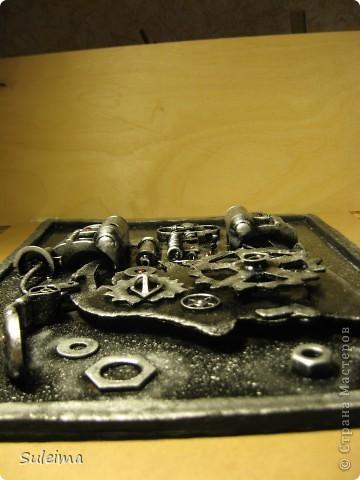 Картина панно рисунок Аппликация Стимпанк или биомеханика Картон гофрированный Материал бросовый фото 2