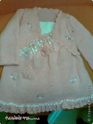 теплый костюмчик для малышки  3-4 годика фото 1
