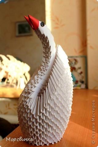 Лебедь из модулей. фото 1