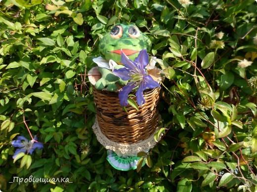 Доброго времени суток, СТРАНА! Знакомьтесь - жаб в жабо, по функциональному назначению -пакетница, по имени Ква-кфанасий  фото 5