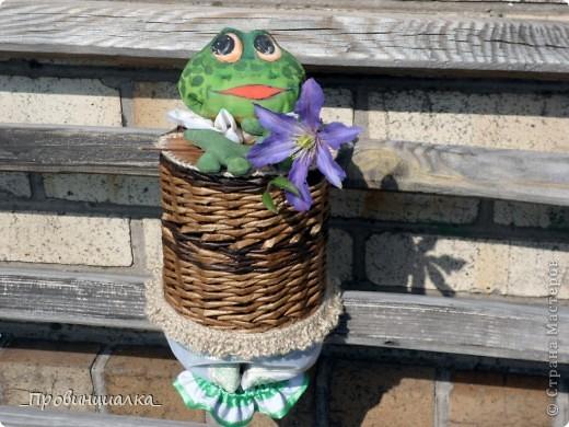 Доброго времени суток, СТРАНА! Знакомьтесь - жаб в жабо, по функциональному назначению -пакетница, по имени Ква-кфанасий  фото 2