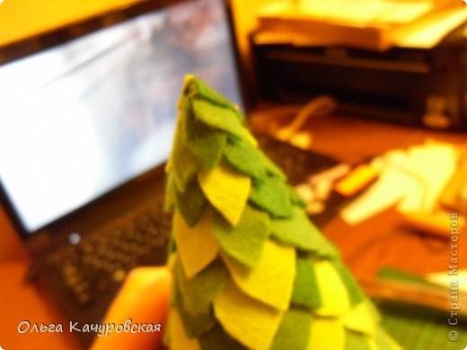 """Сентябрь.... рановато, конечно для ёлочек:-)))  Но раз уж мне достался день новогодней ёлочки (в конкурсе), то принимайте на ваш суд - """"Ёлочка новогодняя сентябрьская""""! Она будет сестричкой для предыдущей ёлочки из бумаги http://stranamasterov.ru/node/290317 . Ой, конечно, нескромно, но они мне обе оооооочень нравятся :-))) фото 17"""