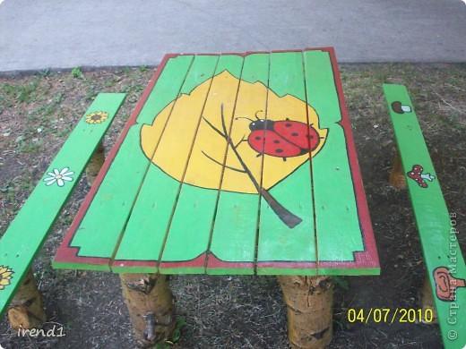 стол для детского сада или дачи
