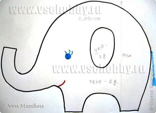 Наш слоник, сшила его пару дней назад, дочура его облюбовала и теперь с ним не растает, даже в ванную с ним жаждит залесть)) фото 3