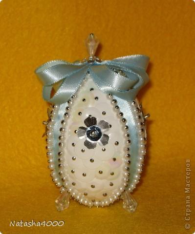 Производитель: Pinflair, Англия Размер: 65 мм В составе набора: яйцо из плотного полистирола, булавки, блестки, бисер, лента, цветы из блесток, инструкция на английском языке. фото 9