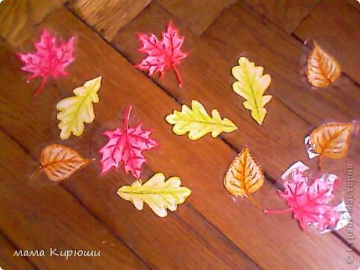 подбери листочки к деревьям, и наклей на липкие полоски фото 2