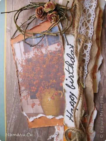 Привет! Делала недавно новое задание ...осеннее-преосеннее..я решила,пользуясь случаем, сделать открытку ко дню рождения мамочки, а оно у нее было 16 сентября, так что и цвет и настроение и повод совпали воедино)))) Думаю,что каждый помнит тот подъем,с которым он делает открытки для своих самых близких и любимых людей, вот и я совсем не исключение...всех приглашаю полюбопытствовать))) фото 2