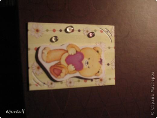 Первые карточки АТС  с мишками не гамми! Хочу, наверно, поменяться... Извиняюсь за качество, только закончила...темно фото 2