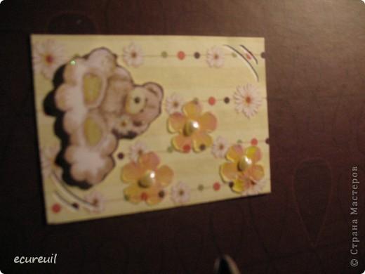 Первые карточки АТС  с мишками не гамми! Хочу, наверно, поменяться... Извиняюсь за качество, только закончила...темно фото 3