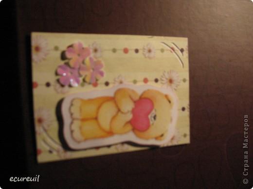Первые карточки АТС  с мишками не гамми! Хочу, наверно, поменяться... Извиняюсь за качество, только закончила...темно фото 4
