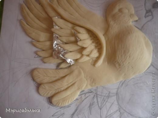 """Всем привет!!!!Вот такие влюбленные голуби у меня получились.Слепила их давно ,вместе с предыдущей работой,все никак не могла раскрасить.И вот наконец руки """"дошли""""(спасибо дождливой погоде))))! фото 19"""