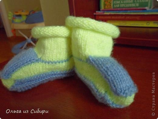 Носочки-пинетки для моего малыша.