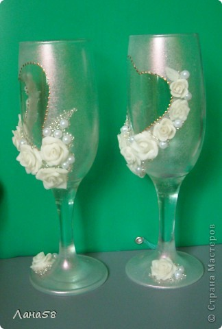 декор свадебных бутылок фото 11