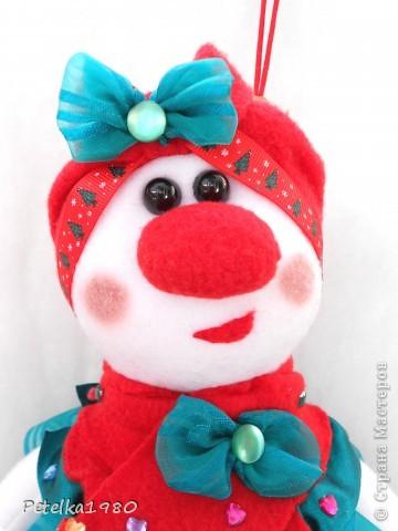 Такая вот очаровательная Снеговушка-Ёлочка дошилась у меня сегодня)) фото 3