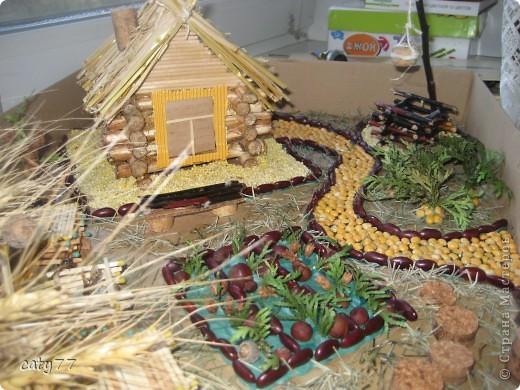 Поделки с домиками из природного материала фото