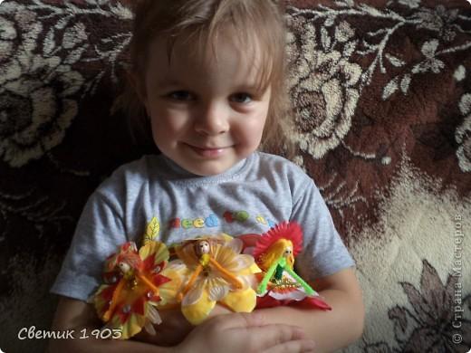 Сделали мы с внучкой маленьких фей. И поиграть с ними интересно, и подарить можно воспитателю.  фото 2