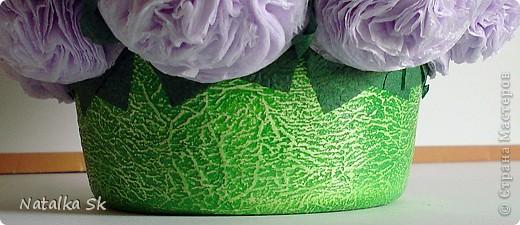 Посмотрела я на топиарии и на цветочные шары из салфеток, что тоже решила сделать себе такую красоту. Делала по мастер-классу Марии Кац https://stranamasterov.ru/node/275438?c=popular_all  фото 2